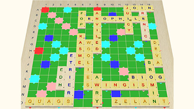 3D Scrabble plays against the AI or connect to an online server for multi-player games.